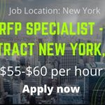 RFP Specialist – Contract New York, NY $55-$60 per hour – Job News 2020