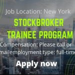 Stockbroker Trainee Program (Long Island/Financial District) – Job News 2020