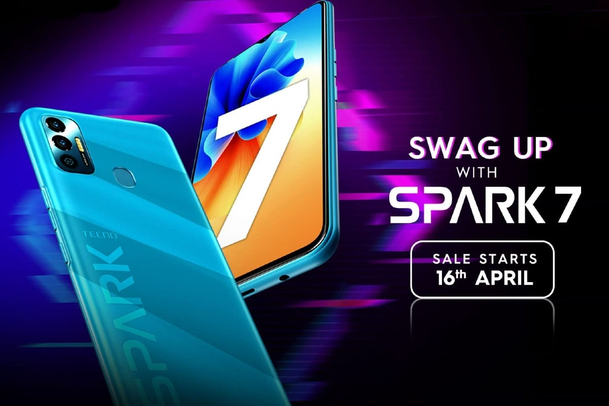 Tecno Spark 7 With Dual Rear Cameras, Selfie Flash Launched in India: Price, Specifications
