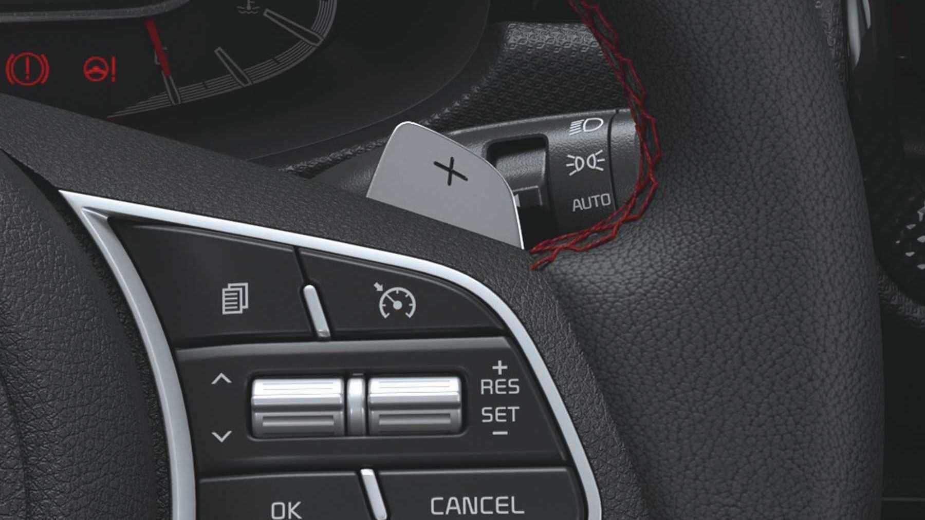 Noise selectors are now standard on all Kia Sonet automatic versions.  Photo: Kia