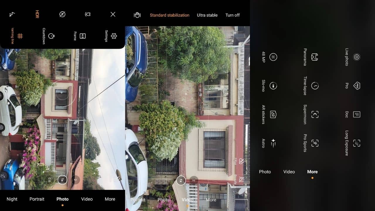 Vivo X60 Pro camera software