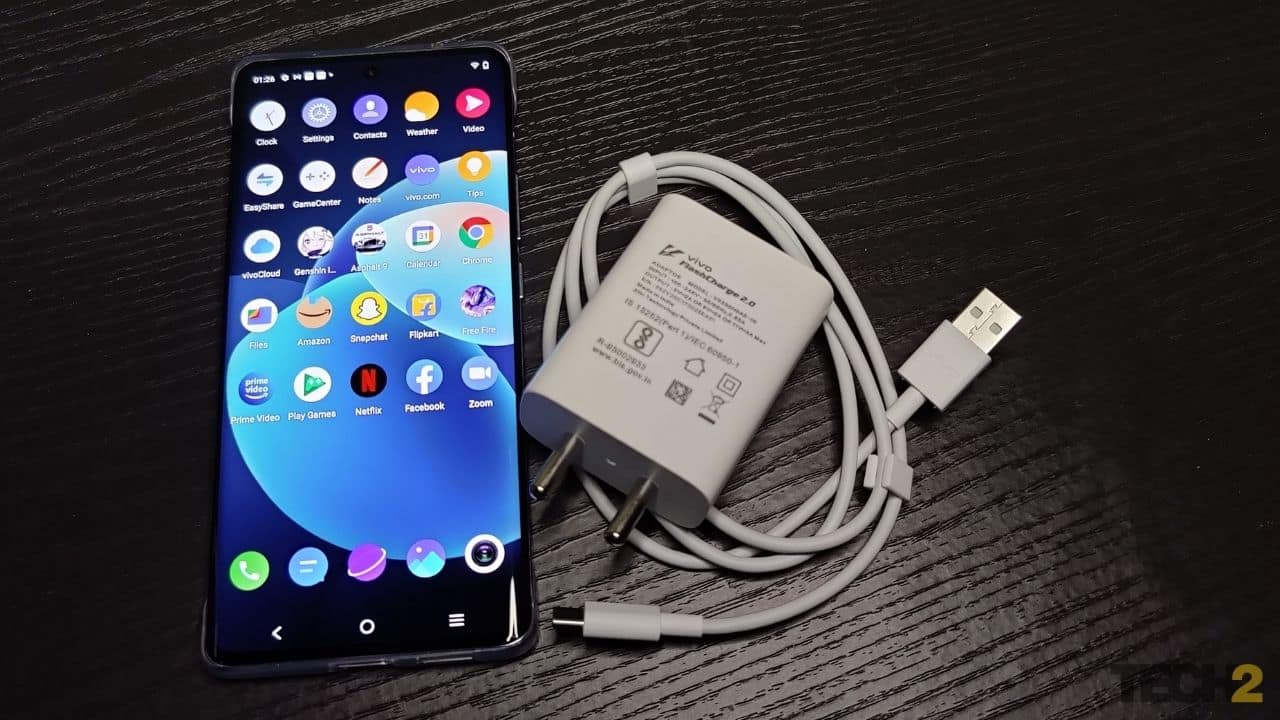 The Vivo X60 Pro comes with a 33 W quick charger.  Photo: Jaison Lewis