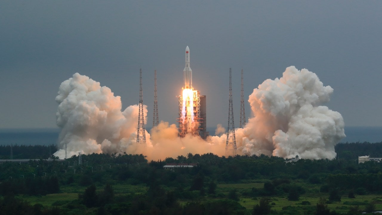 Long March 5B Rocket Launches First Module of Heavenly Palace Space Station - Technology News, Firstpost