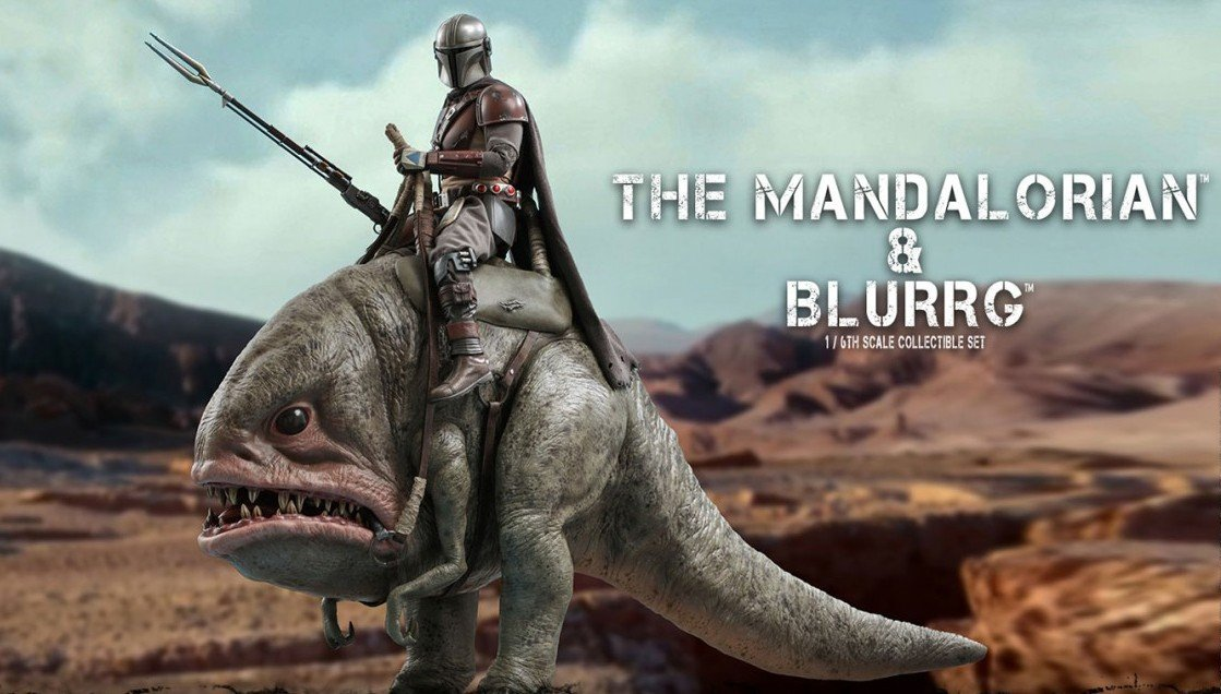 Hot Toys Reveals Mandalorian & Blurrg Star Wars Television Masterpiece Character