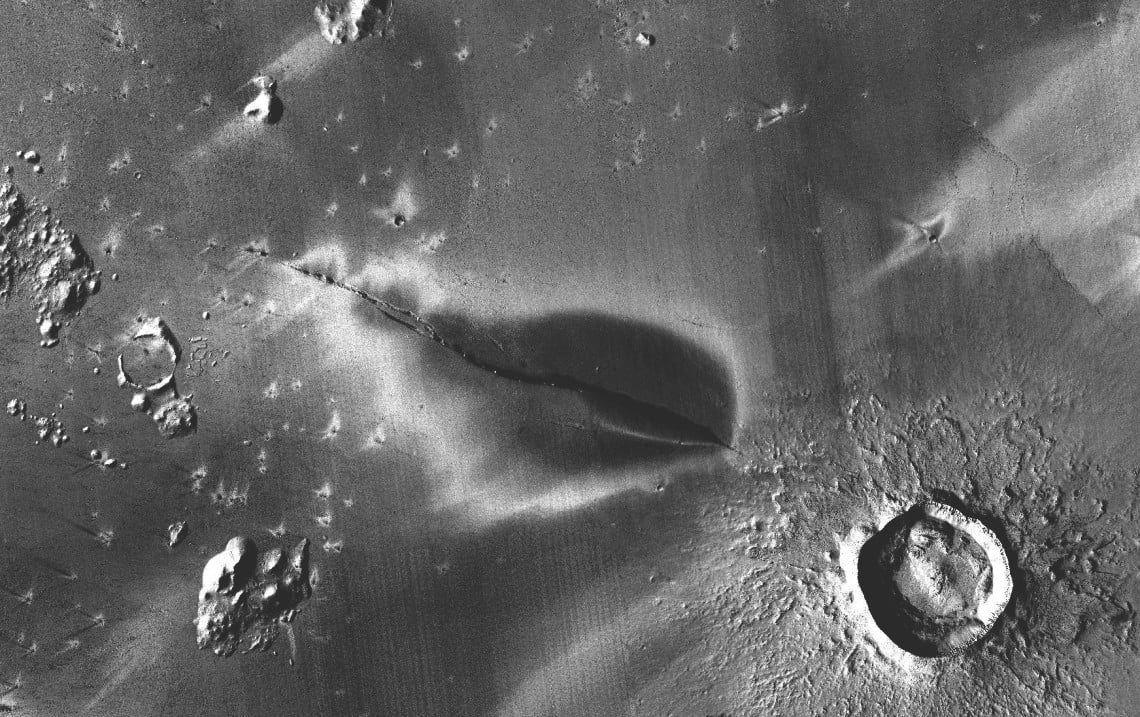 The red planet may have active volcanoes
