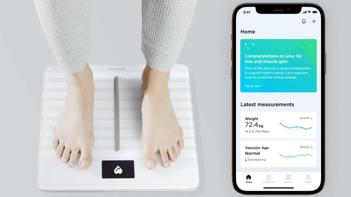 Withings' smart scale can now tell the 'age' of your heart