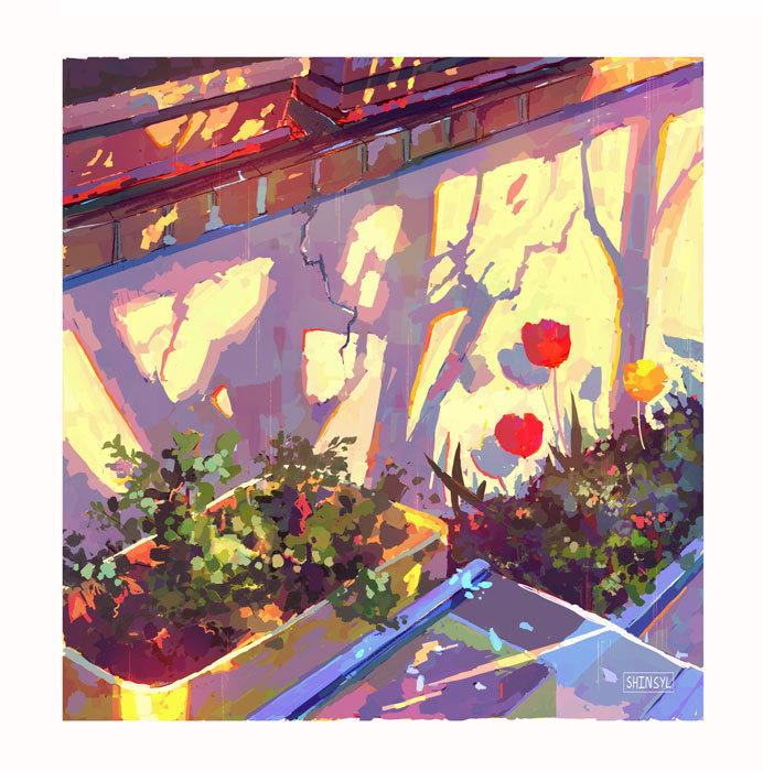 Garden Painted Procreate [2021.04] good day!  Art Shop / Inprnt / Instagram / Tip Jar