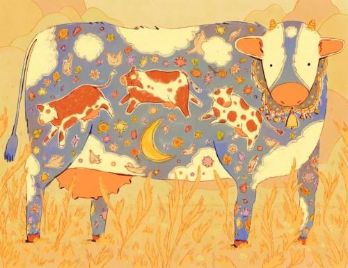 photo days: Cow Daydream Print // dizzyodonnell