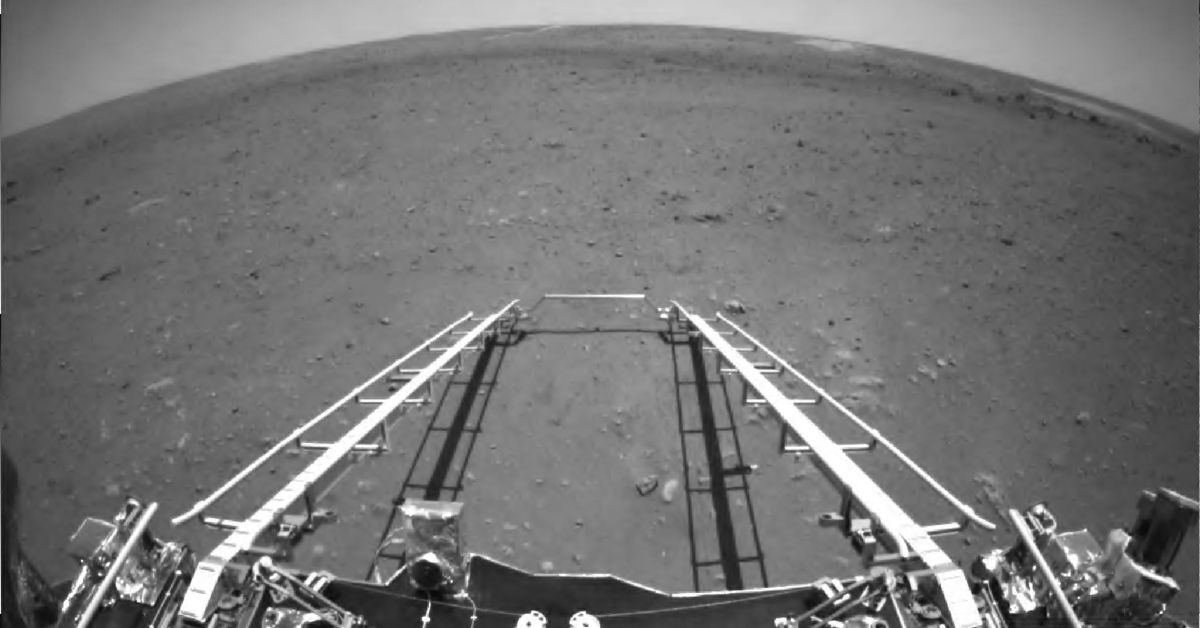 China will publish the first images of its Zhurong rover on Mars