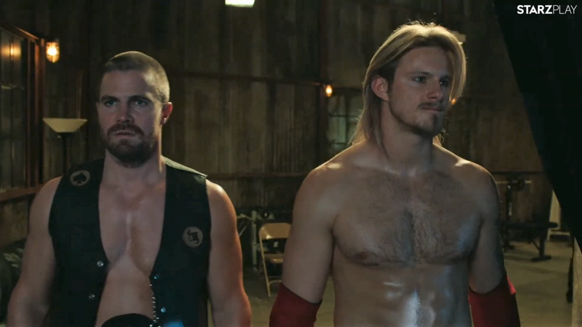 The first trailer for wrestling-pro-drama Heels, starring Stephen Amell and Alexander Ludwig