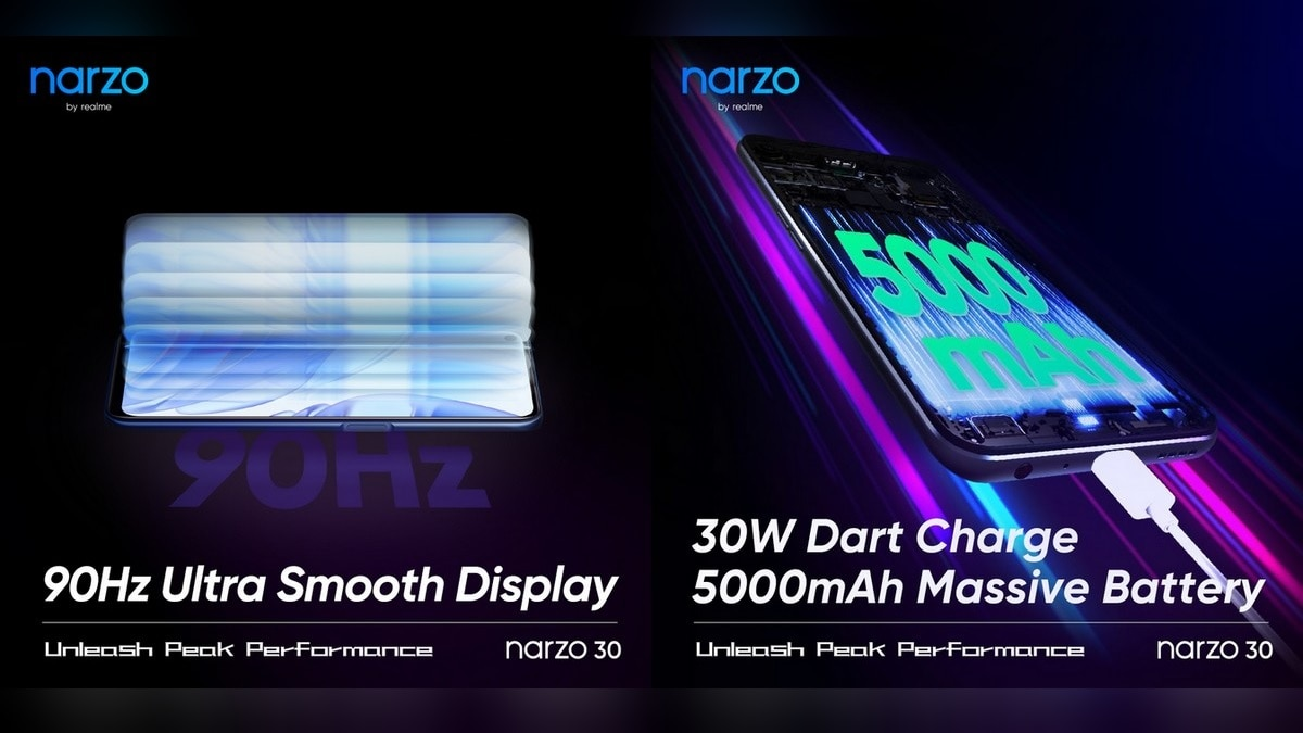 The specifications of the Realme Narzo 30 were bullied;  90 Hz refresh rate included, 5000 mAh battery, 30 W fast charge