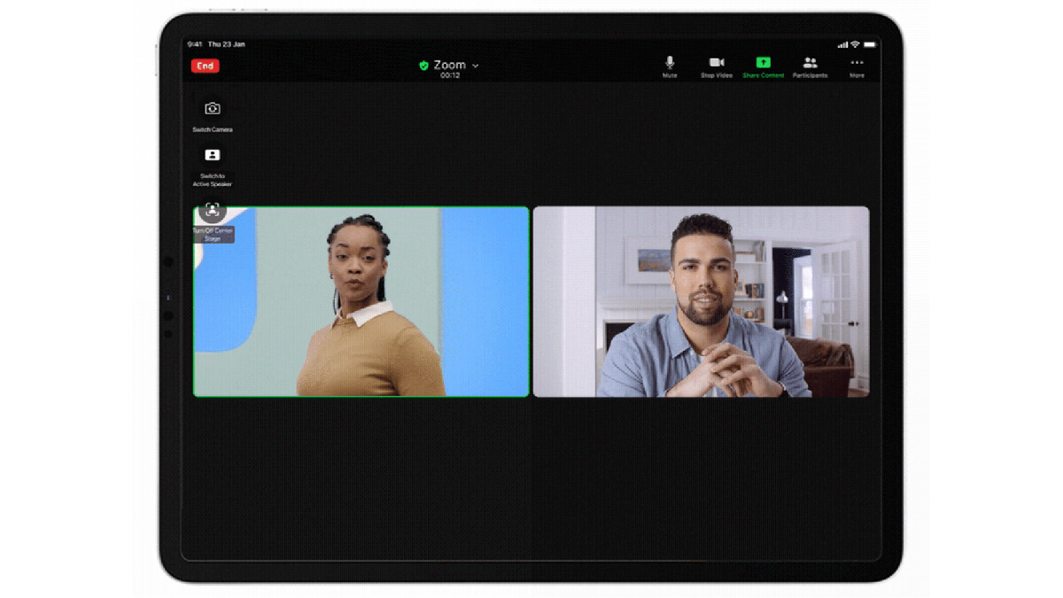 The new Zoom update adds support for the iPad Pro Center Stage video calling feature