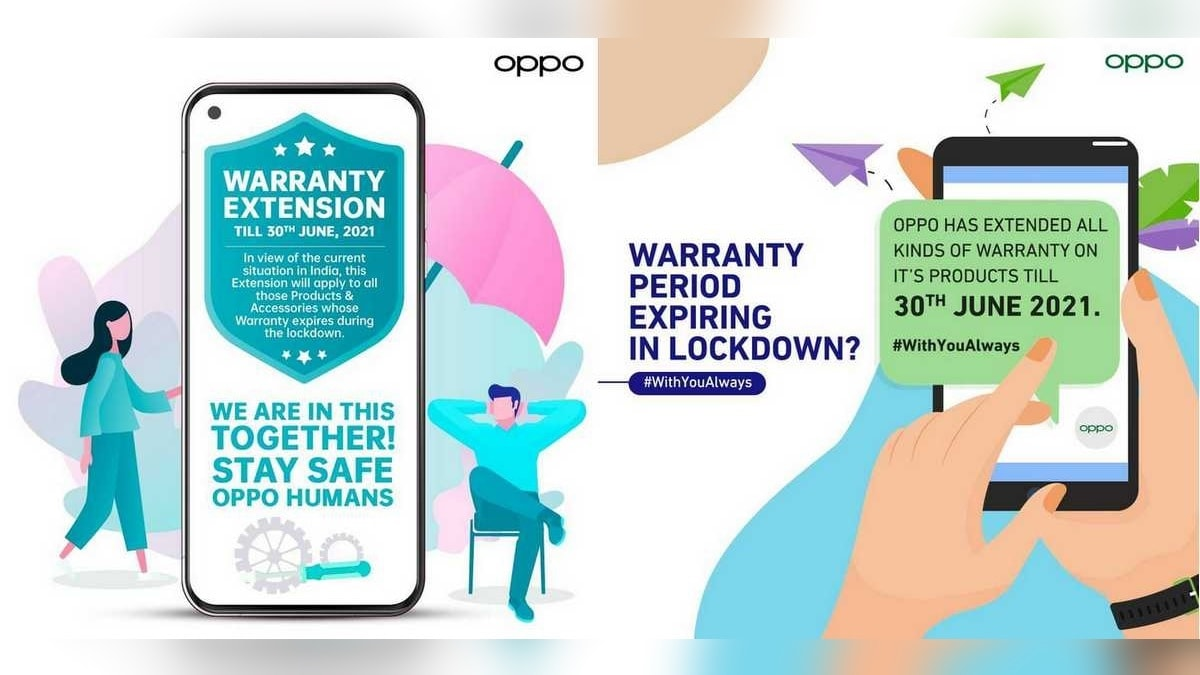 Oppo will extend the warranty in India until June 30 amid COVID-19 locks