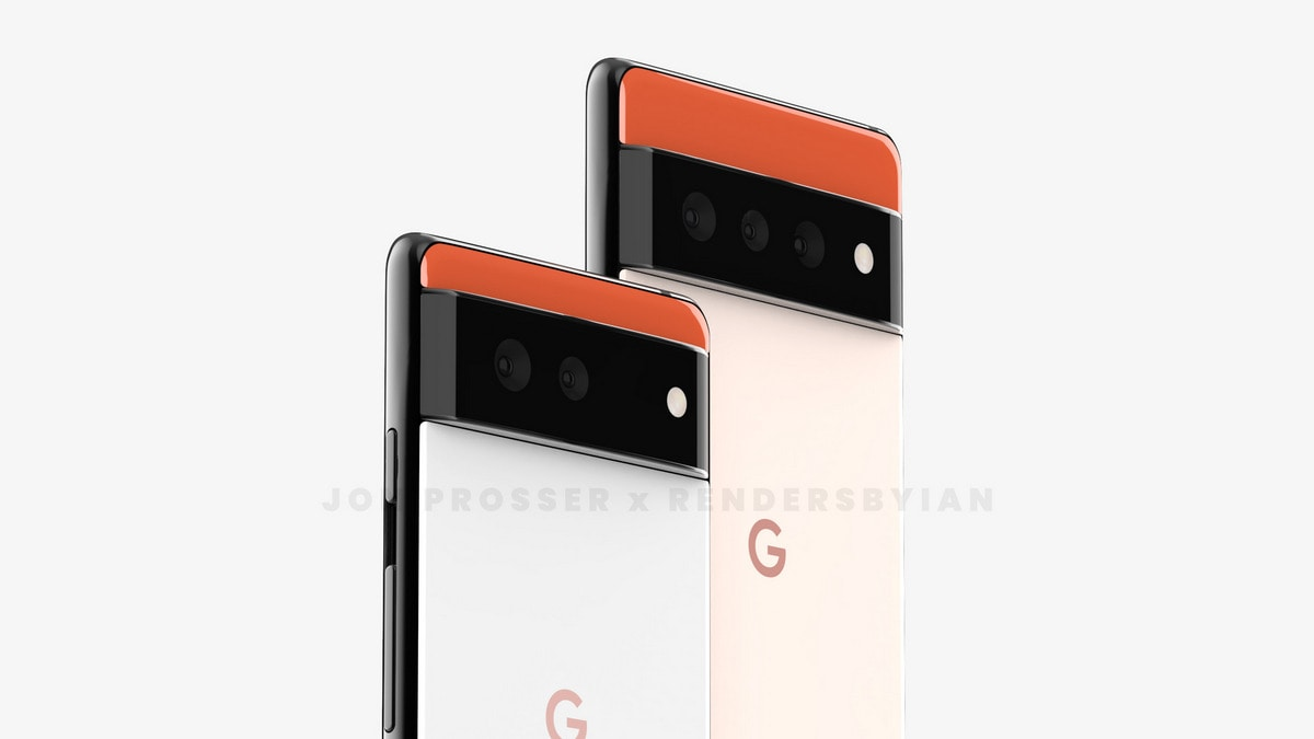 Google Pixel 6, Pixel 6 Pro leaked rendering is a stunning new design;  Also Pixel Watch surfaces