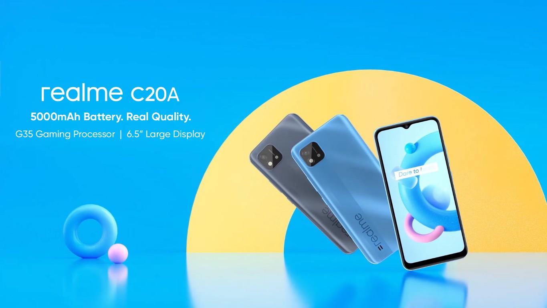 Realme C20A with MediaTek Helio G35 SoC, corporate 6.5-inch display