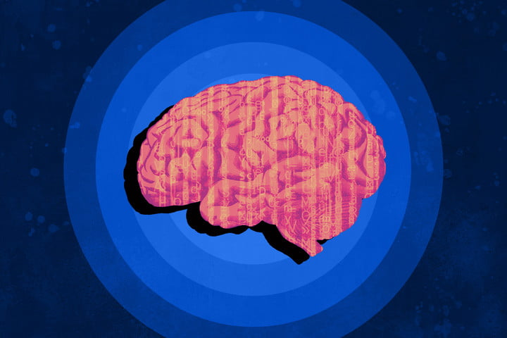 brain with computer text scrolling artificial intelligence