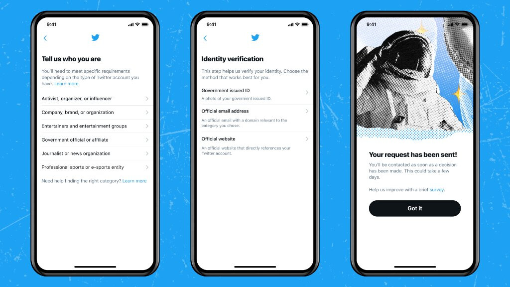 Twitter will restart the confirmed program;  this allows you to retrieve the blue mark