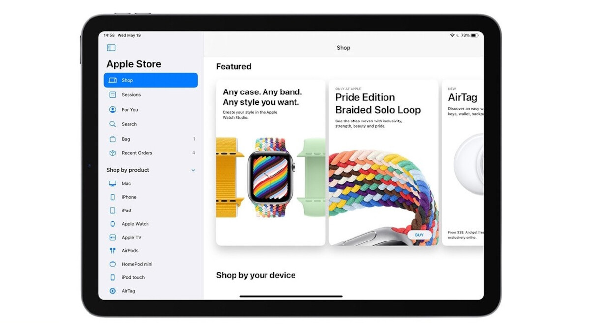 The upgrade to the Apple iPad brings a new feature that allows users to quickly browse the Apple Online Store