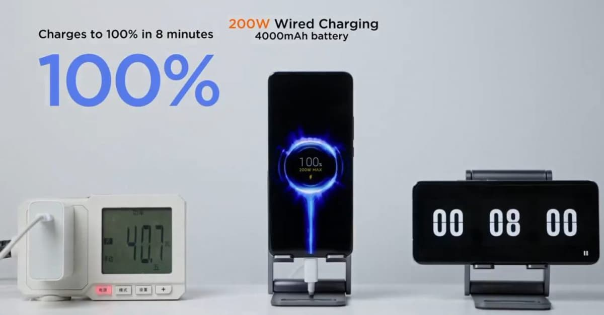 Xiaomi Introduces 200W Wired HyperCharge Wired, 120W Wireless Quick Charge Technology