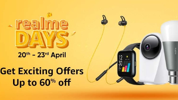 Amazon Realme Days: Discount Deals on Realme Buds 2, Realme Buds 2, Realme Watch S, Classic Watch and More