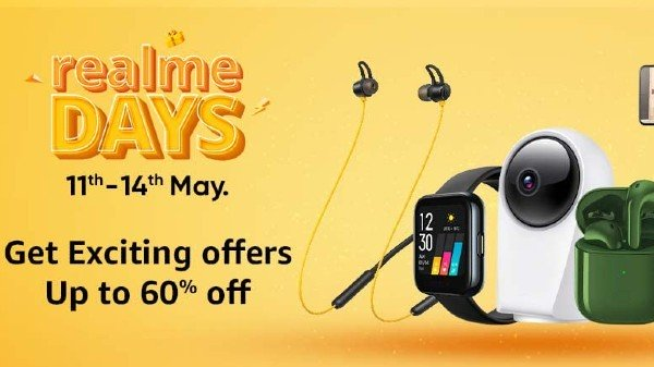 Amazon Realme Days Sale: discount on headphones, smart watches, power banks and more