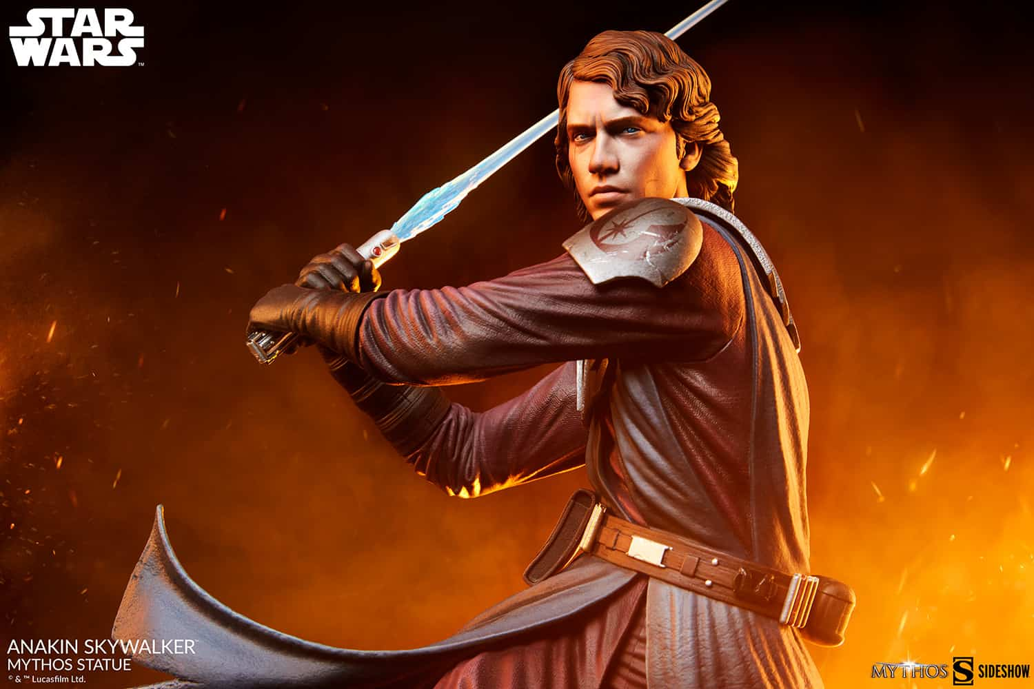 The new Anakin Skywalker Star Wars Mythos statue from the sideshow was unveiled