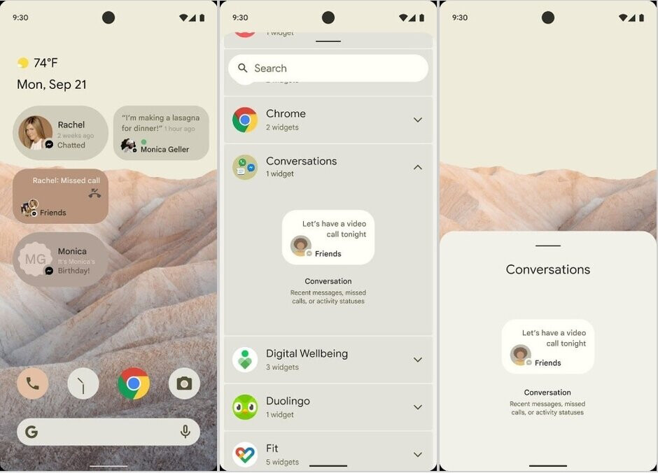 New Android 12 notifications - Beta and new features in the Android 12 update