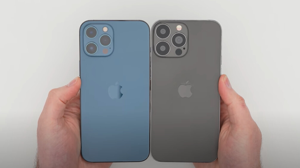 Practical video in the iPhone 13 Pro Max sample shows a sleeker notch, larger camera modules