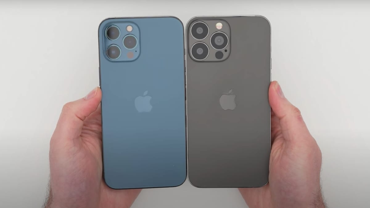 The iPhone 13 Pro Max hands-on video suggests smaller notches, much larger cameras