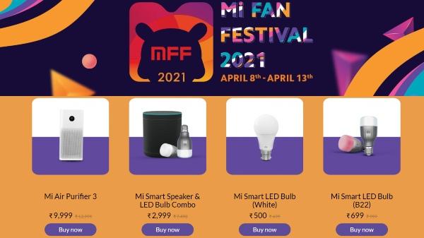 Mi Fan Festival Sale 2021: Discount offers on home entertainment equipment