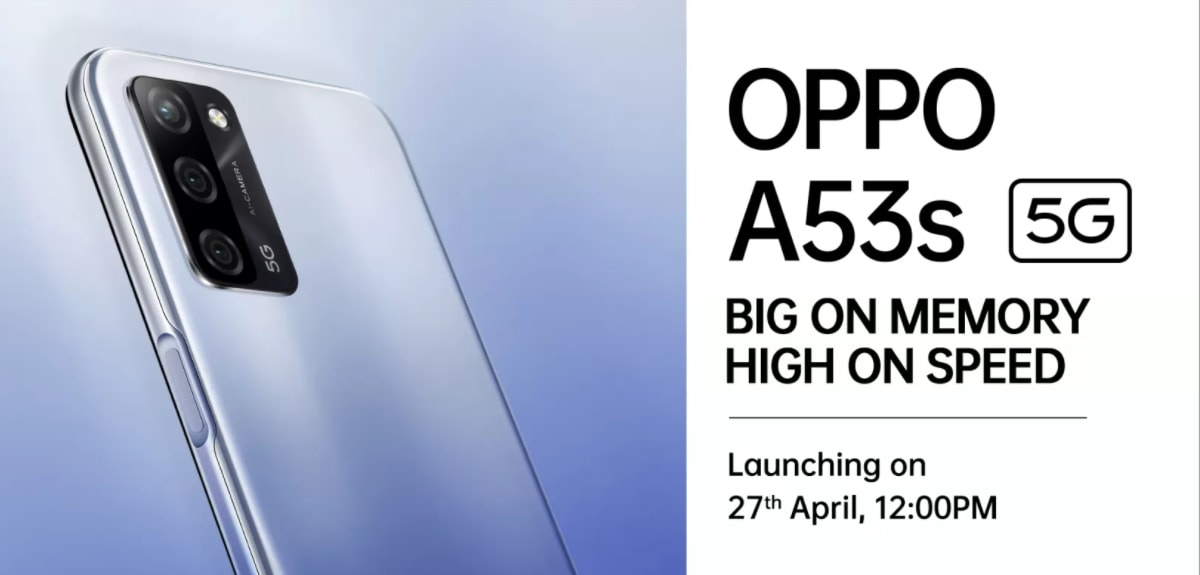 The Oppo A53s 5G was set to launch in India today so it can be sold through Flipkart: Price, Specifications