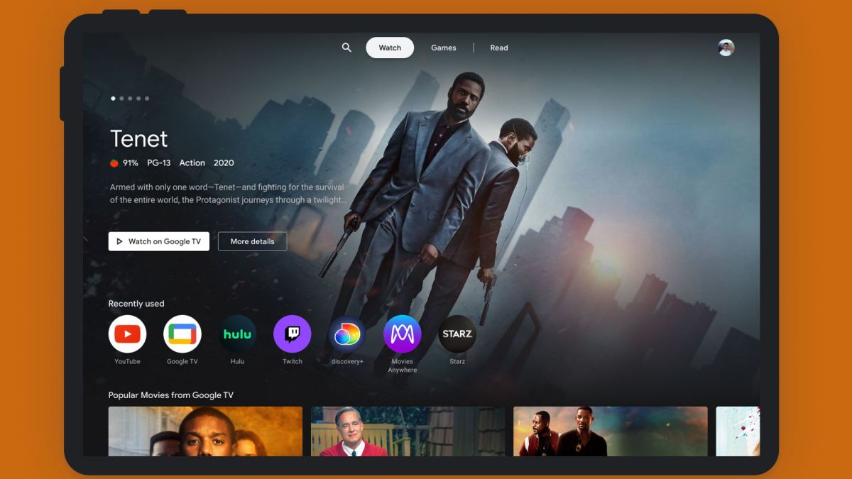 Google's new tablet entertainment mode aims for Amazon Fire HD 10