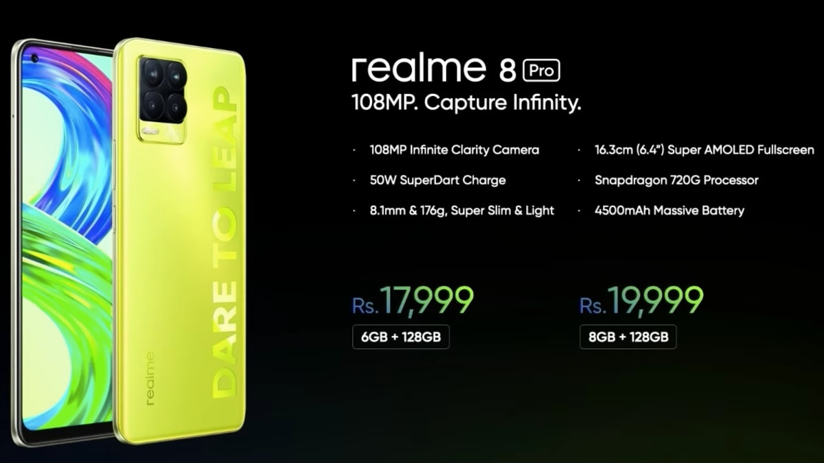The Realme 8 Pro Illuminating Yellow Color Variant was launched in India, the Realme X7 Max teased