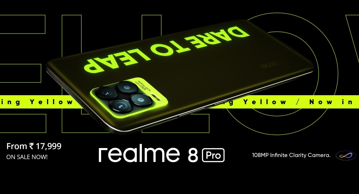 Realme 8 Pro Illuminating Yellow Variant is sold in India: price, specifications