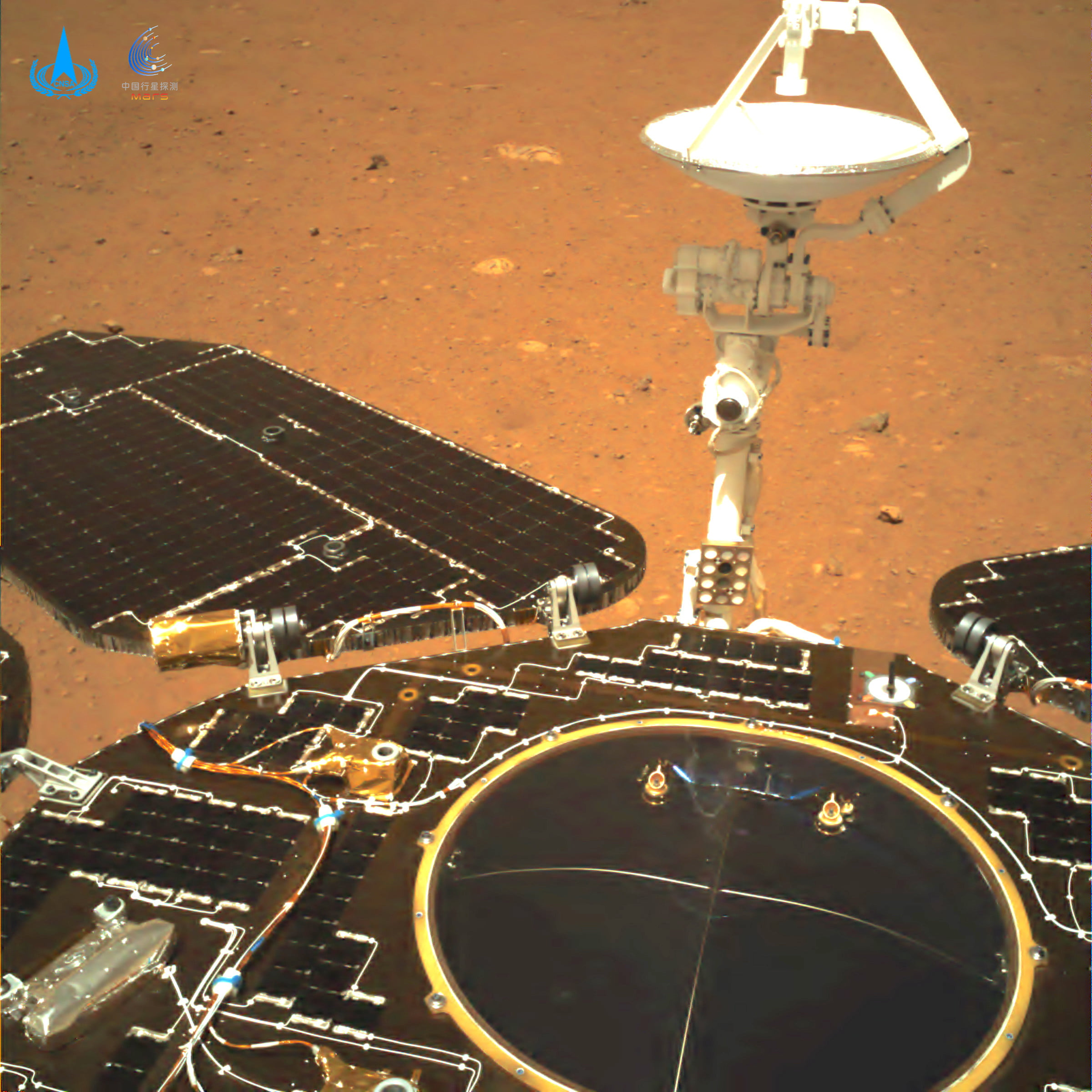 China's Zhurong Rover returns to its first images of Mars