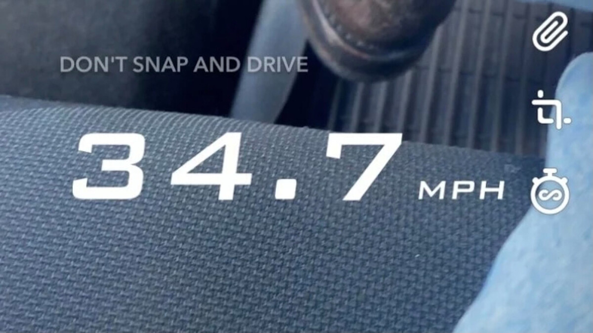 Snapchat removes the controversial feature of careless driving
