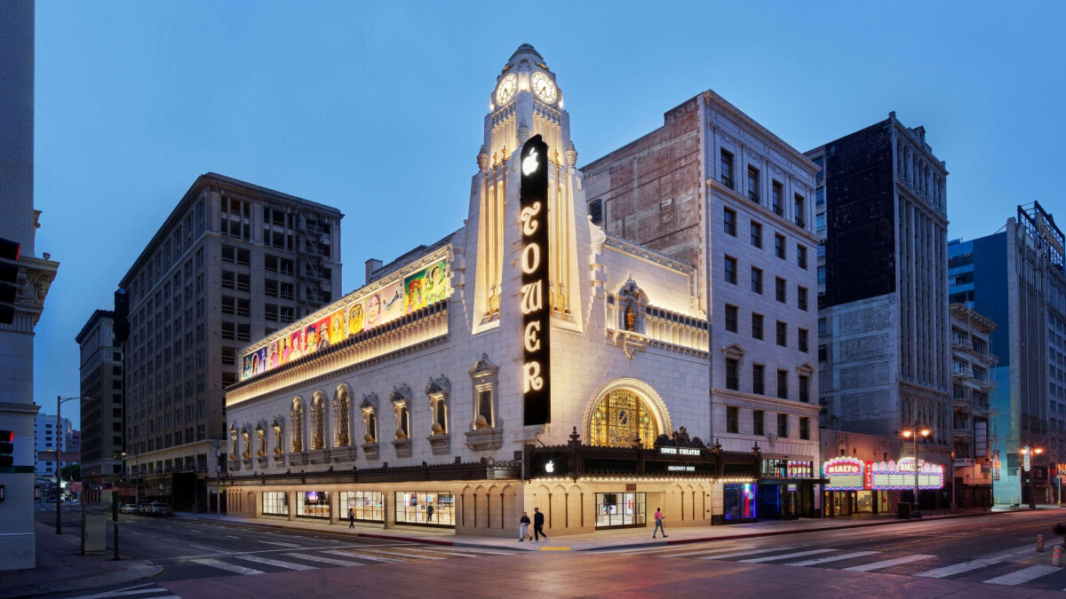 The Apple Tower theater store opens today in downtown LA;  check out the photos