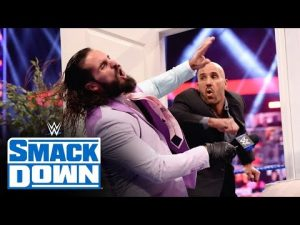 """Seth Rollins and Cesaro destroy """"Ding Dong, hey!""""  series SmackDown: June 11, 2021"""