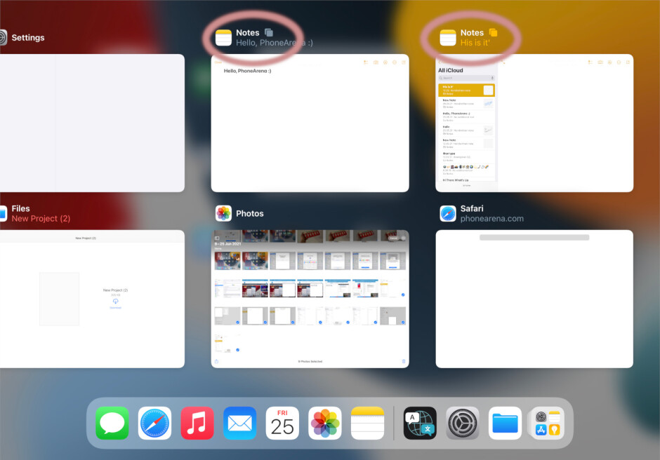iPadOS 15: how to use the shelf, how to find background windows