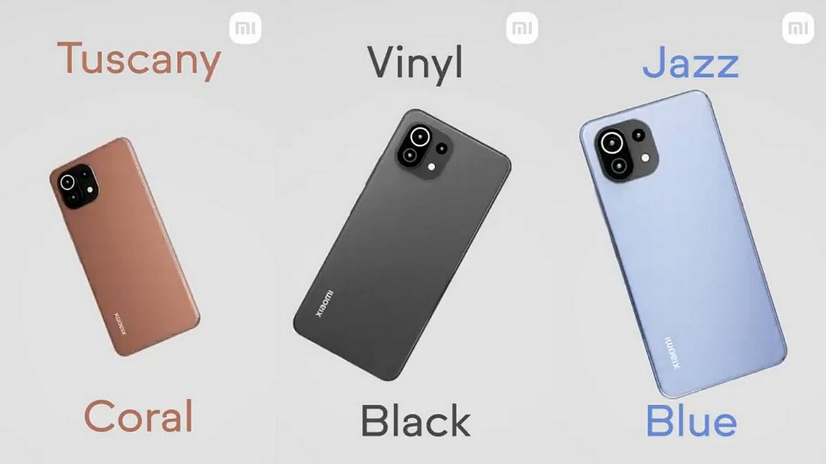 Xiaomi unveiled the Mi 11 Lite color options ahead of its launch in India on June 22nd