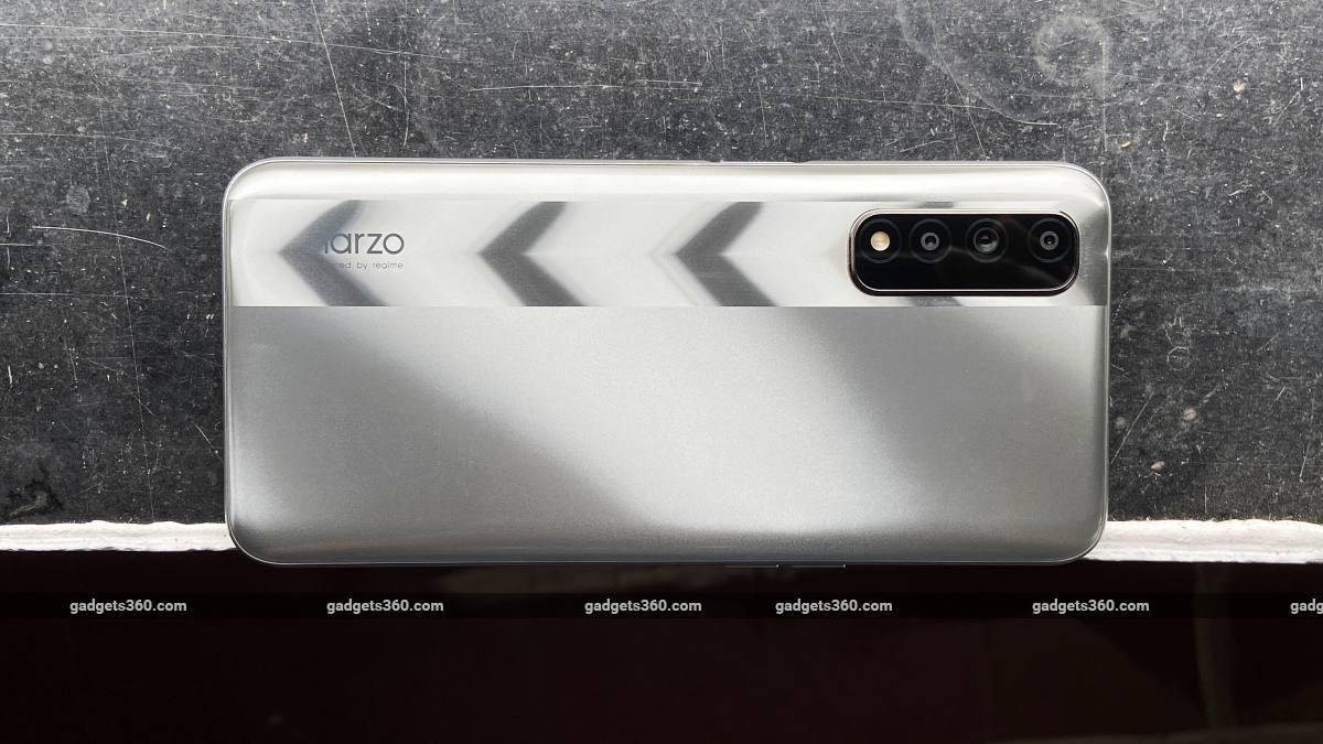 Realme Narzo 30 back silver design ndtv RealmeNarzo30 Realme