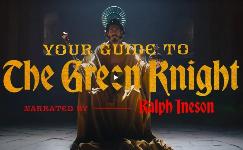 The A24 publishes a guide to the Green Knight narrated by Ralph Ineson