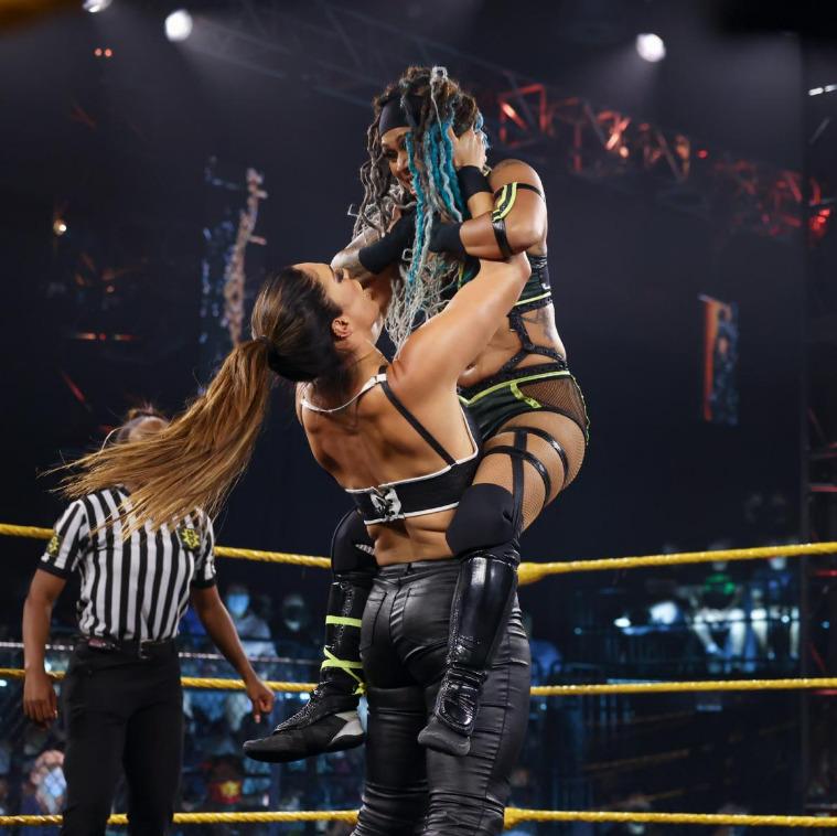 Raquel Gonzalez & amp;  Dakota Kai vs. Kayden ··· :: Carter & amp;  Kacy CatanzaroWWE NXT: June 15, 2021 ...