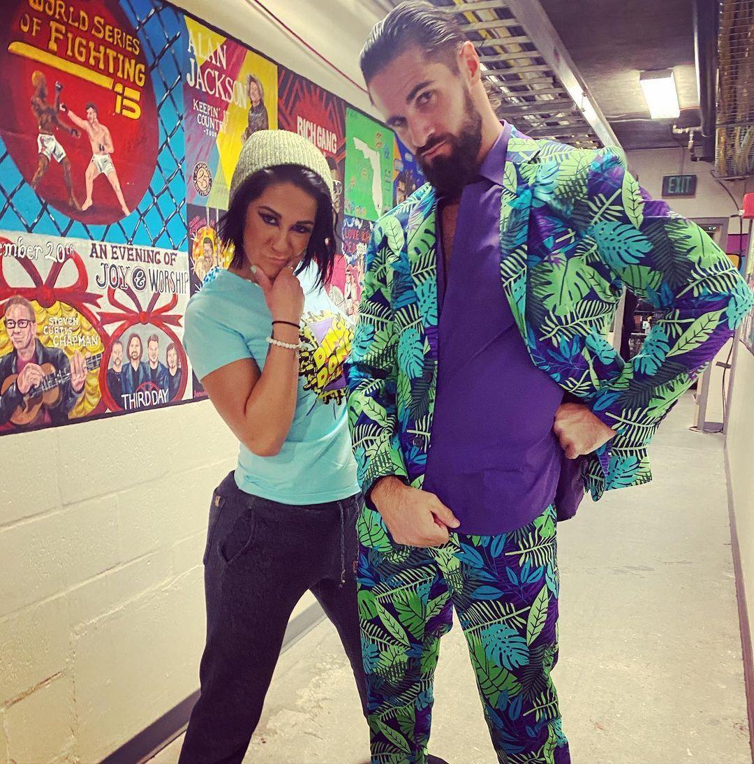 WWE Women Bay, Bayley & Seth Rollins 💋