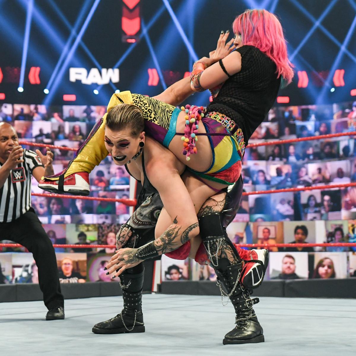 WWE Women 🌈, Rhea Ripley and Charlotte Flair vs Asuka and Nikki ...