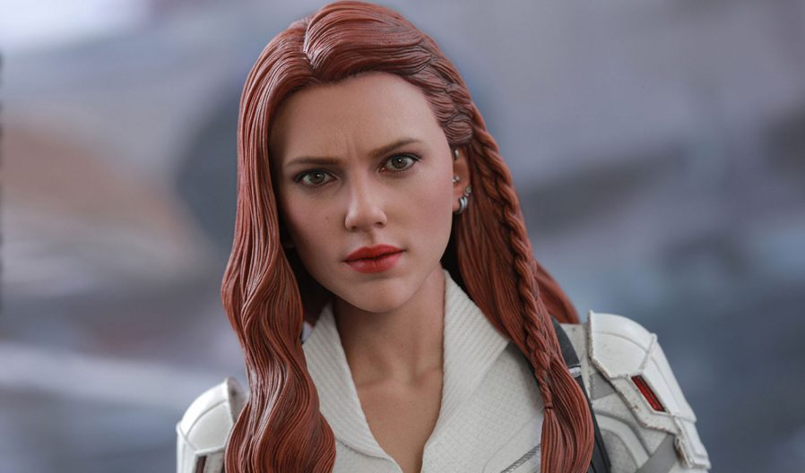 The sideshow featured Black Widow and Taskmaster Hot Toys Sixth Scale Figures