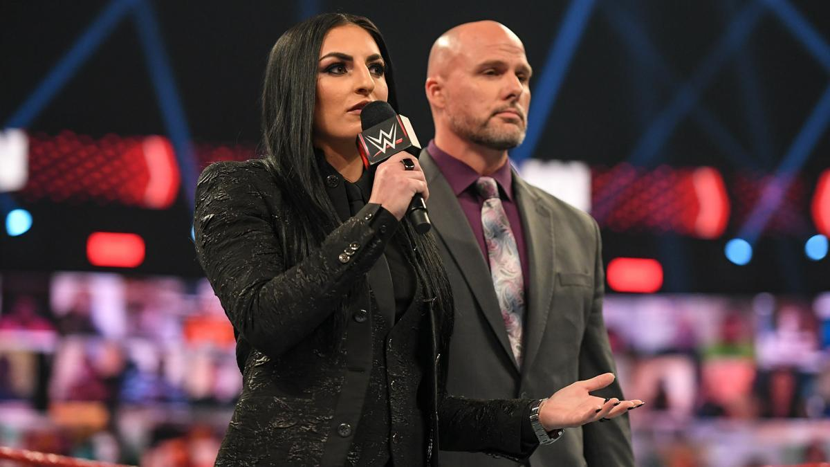 WWE women, Sonya Deville, Adam Pearce, Rhea Ripley, Charlotte ...