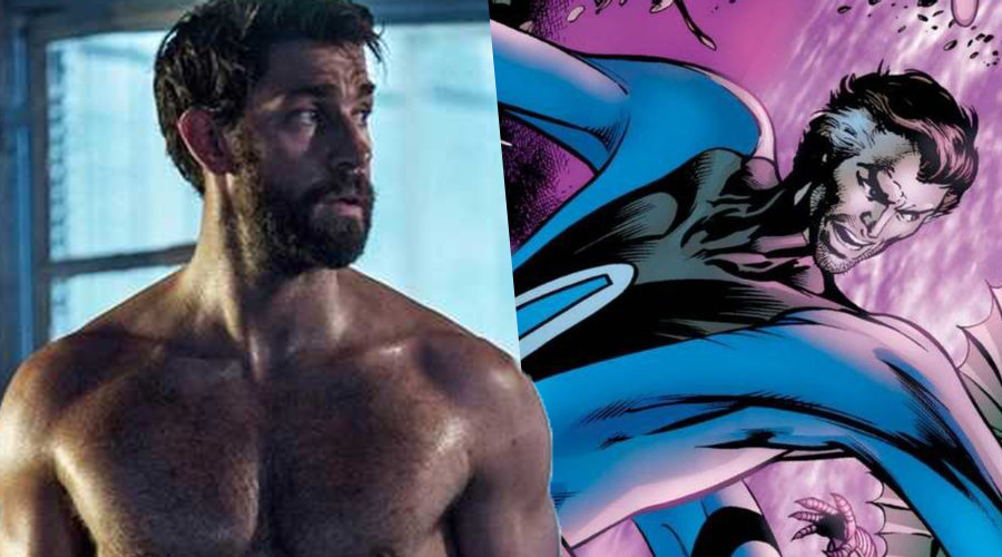 """John Krasinski says """"Hell Yeah"""" when asked if he plays Reed Richards in Marvel's Fantastic Four"""