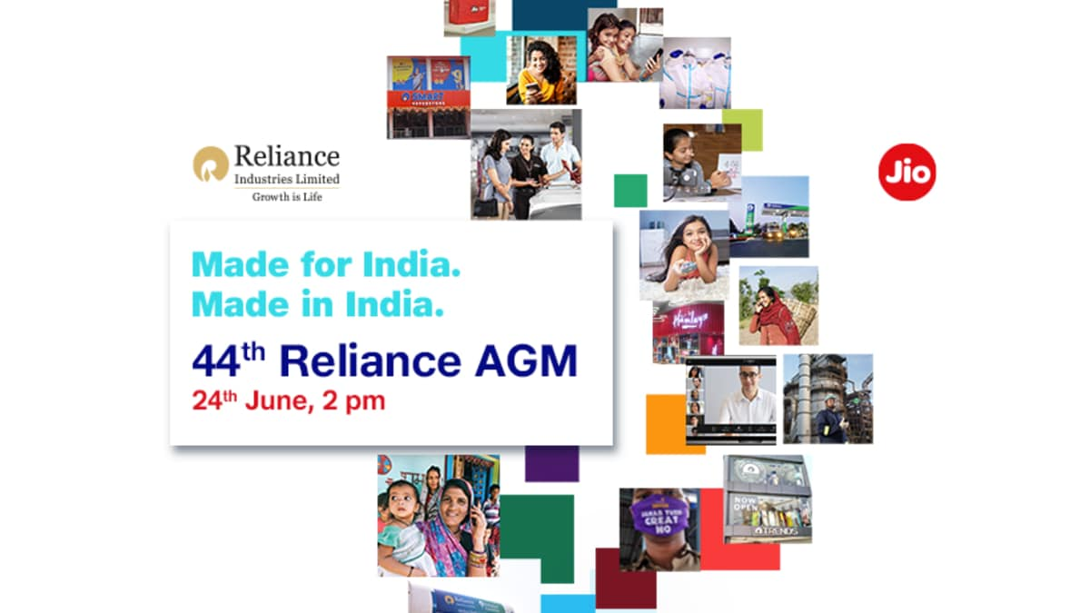 Reliance AGM 2021 virtual event today: live viewing, Jio Chatbot announced, Jio 5G phone expected