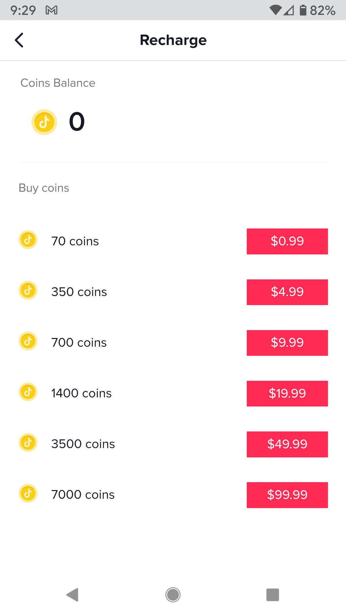 Choose how many coins you want to buy.